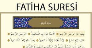 fatiha suresi